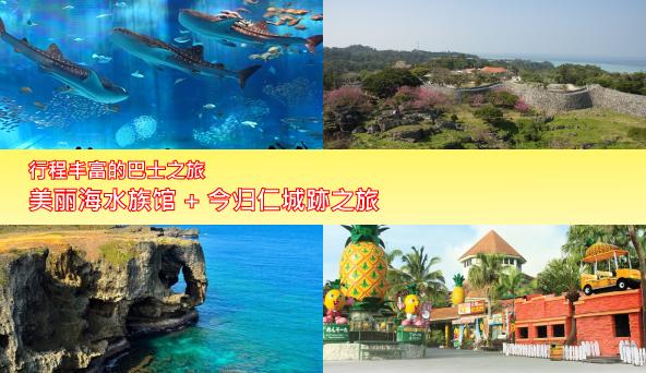 美丽海水族馆+今归仁城跡之旅