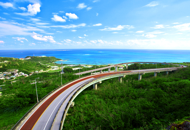 A place you should definitely visit with your rental car! The Nirai-Kanai Bridge.
