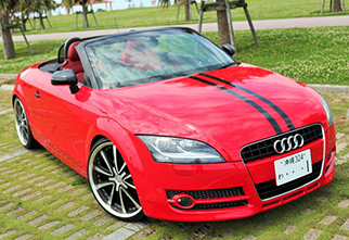 audi tt roadster red.menu