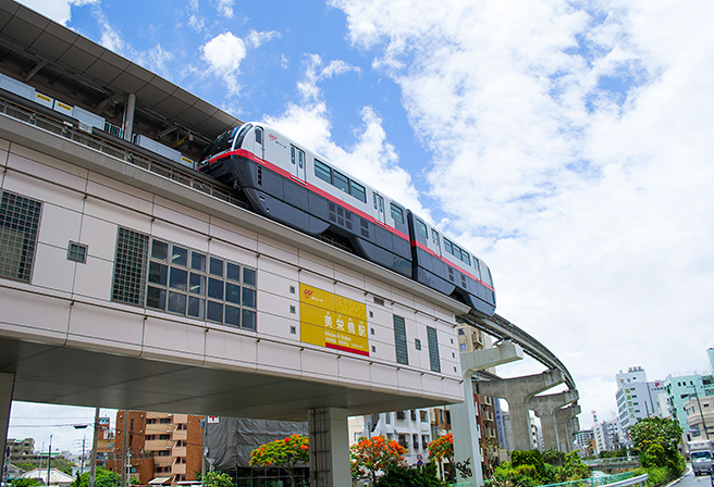 Touring around Okinawa with the Yui Rail - Information about Miebashi Station