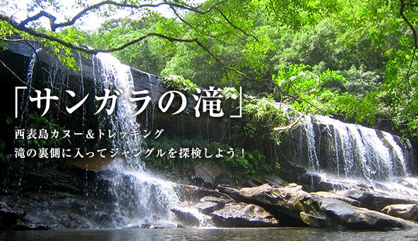西表島カヌー&トレッキング「サンガラの滝」コース