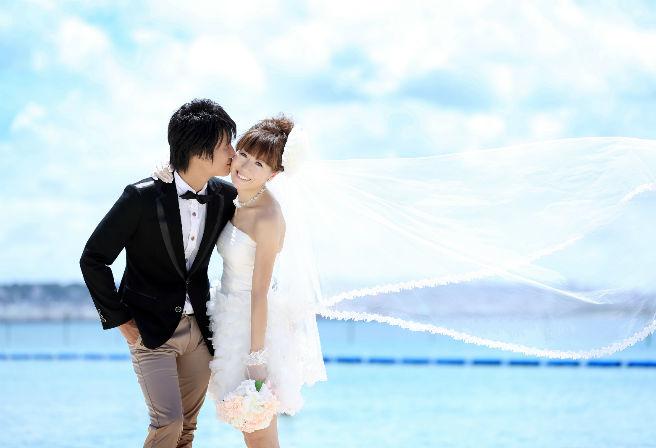 okinawa watabe wedding ビーチ 结婚 ドレス656_448