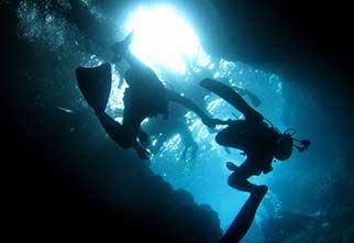 ボートでラクラク出航!青の洞窟体験ダイビング